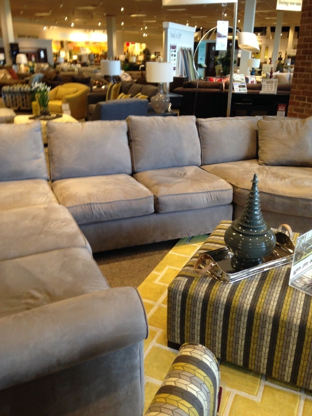 Latitude Run Whitner Sectional With Ottoman regarding Avery 2 Piece Sectionals With Laf Armless Chaise (Image 16 of 30)