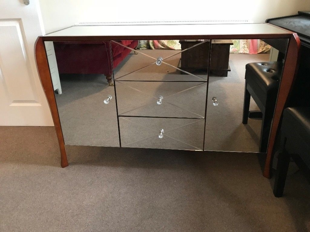 Laura Ashley Charlston Mirrored 2 Door 3 Drawer Sideboard | In pertaining to Aged Mirrored 2 Door Sideboards (Image 23 of 30)