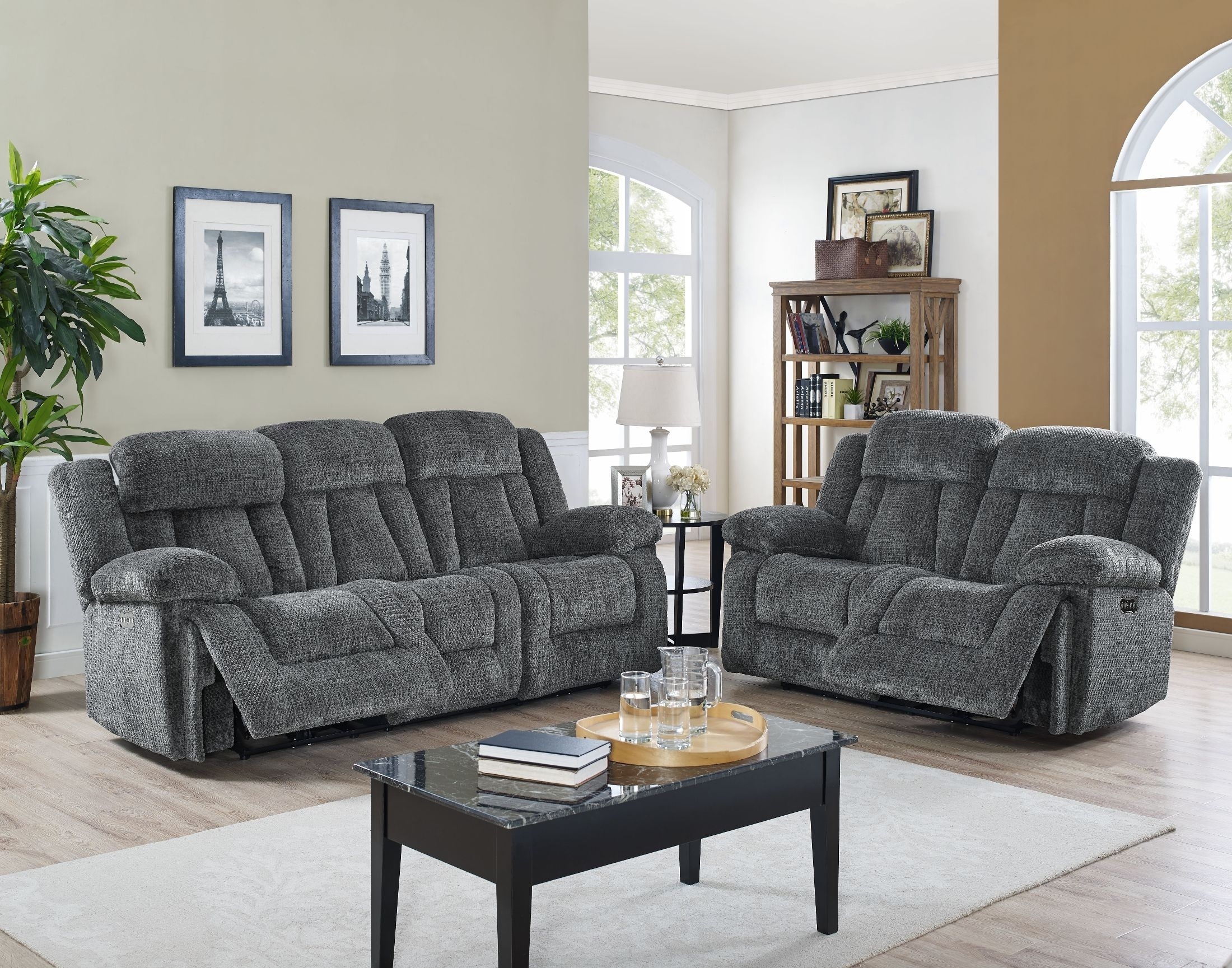 Laura Chocolate Reclining Sectional From New Classic | Coleman Furniture for Turdur 3 Piece Sectionals With Laf Loveseat (Image 12 of 30)