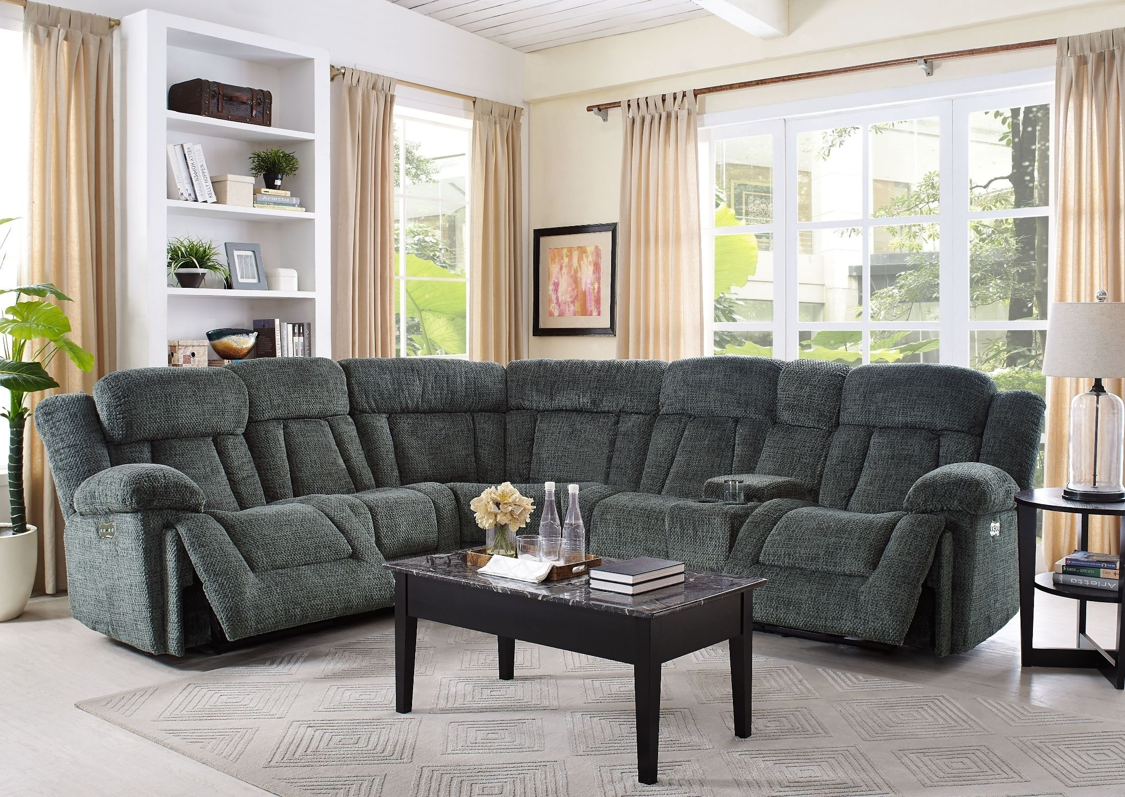 Laura Junction Pewter Power Sectional From New Classic | Coleman with Turdur 3 Piece Sectionals With Raf Loveseat (Image 13 of 30)