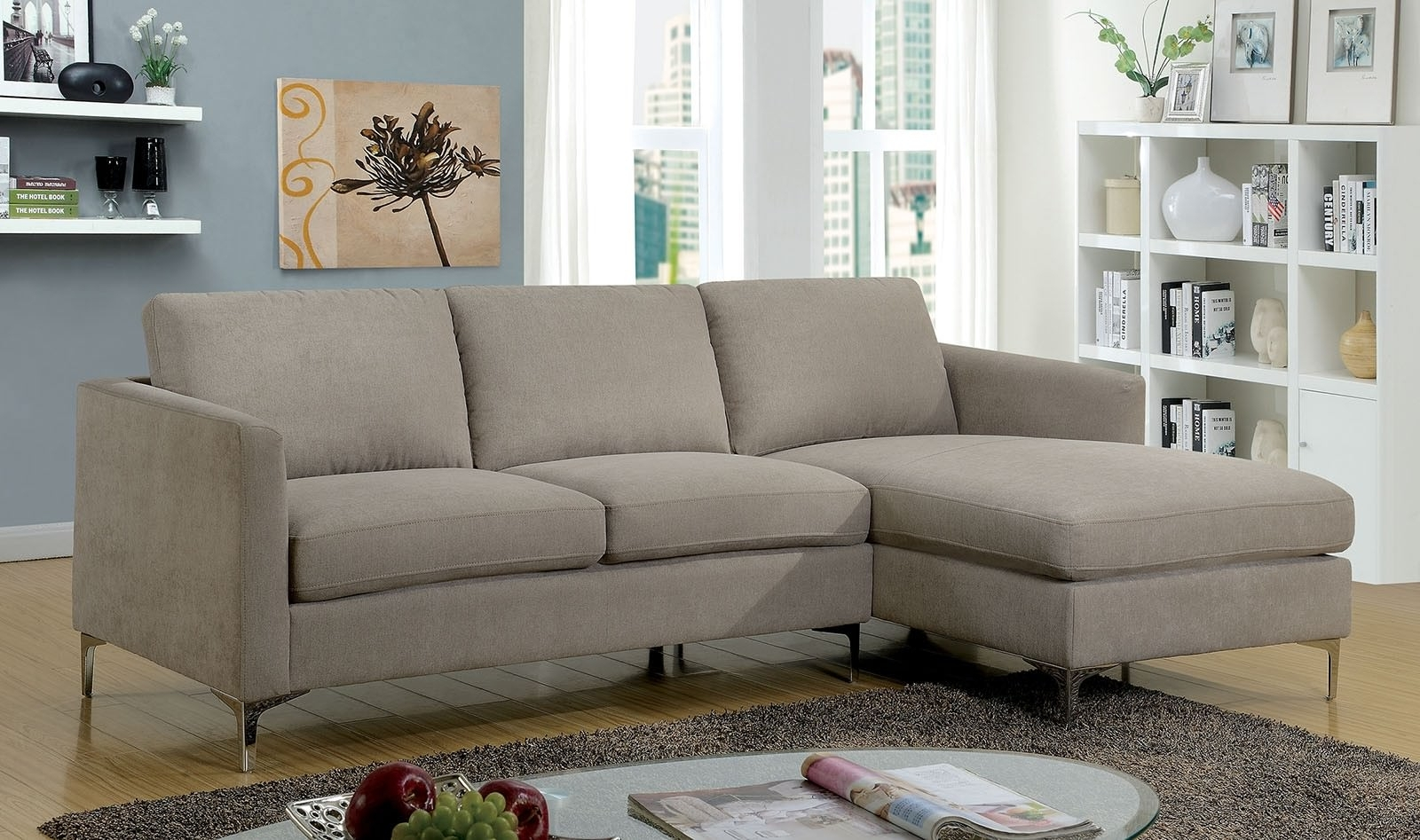 Leather & Fabric Sectional Sofas with Aidan 4 Piece Sectionals (Image 19 of 30)