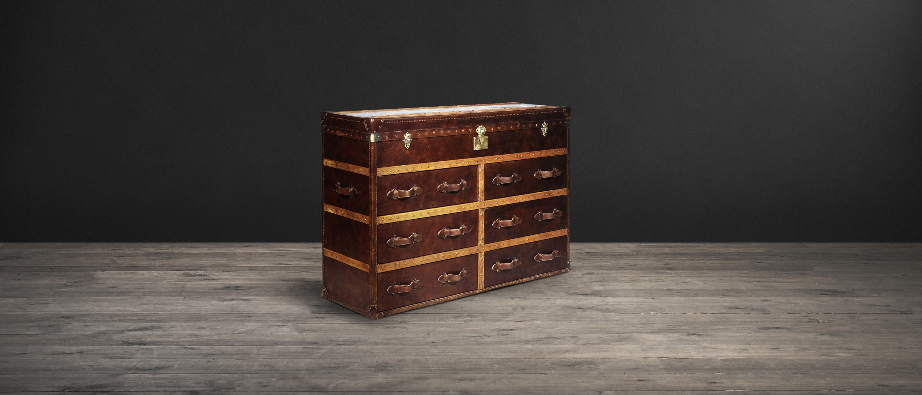 Leather Sideboards - Ampleforth | Timothy Oulton for Vintage Brown Textured Sideboards (Image 10 of 30)