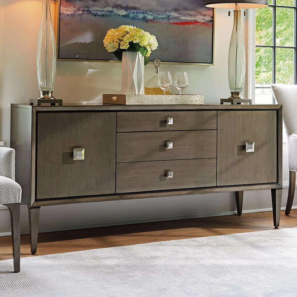 Lexington Ariana Provence 3 Drawer 2 Door Sideboard | Wayfair regarding 3-Door 3-Drawer Metal Inserts Sideboards (Image 13 of 30)