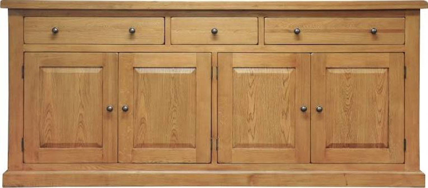 Leyton Oak Extra Large Sideboard inside Oil Pale Finish 4-Door Sideboards (Image 17 of 30)