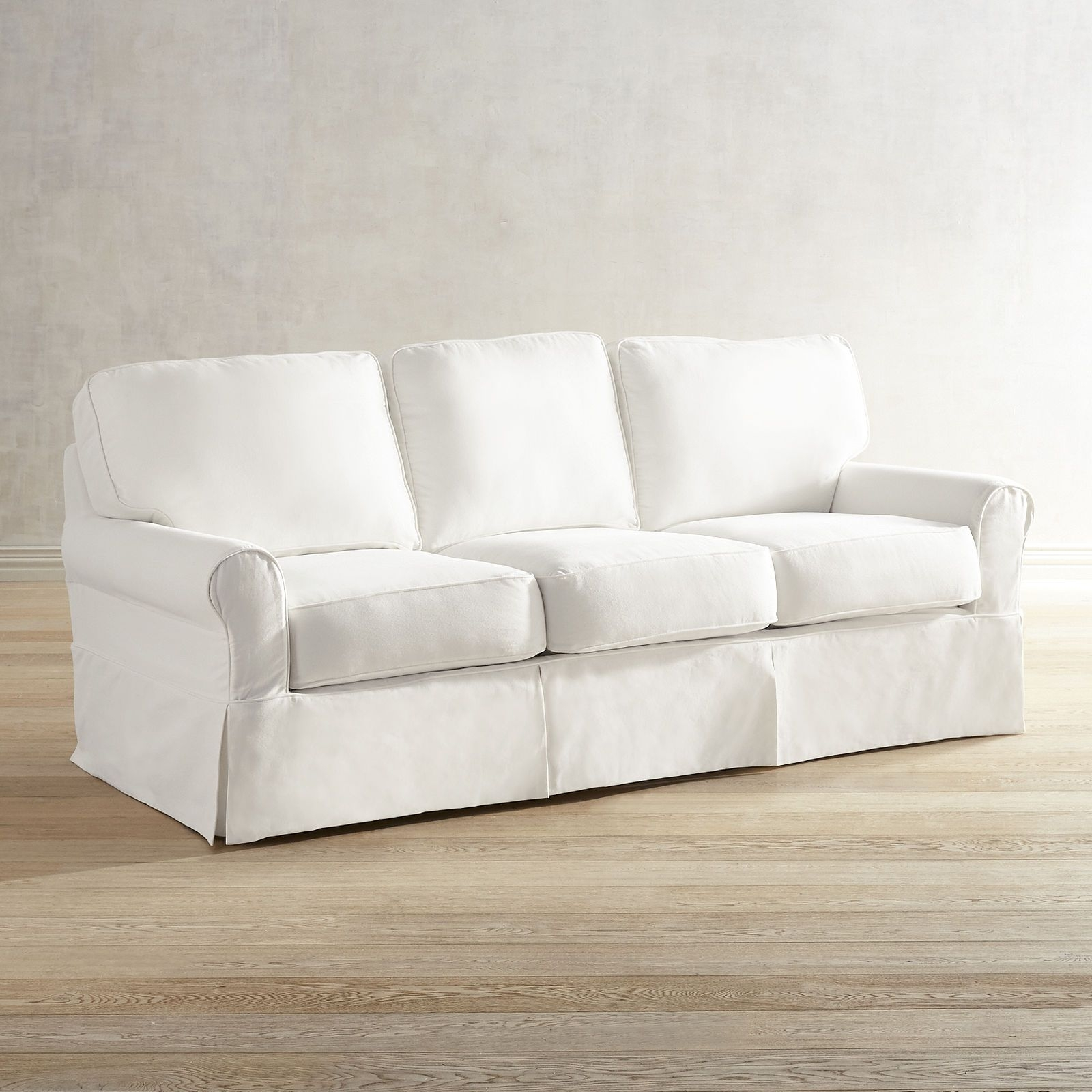 Lia Pierformance™ White Slipcovered Sofa | F U R N I T U R E intended for London Optical Reversible Sofa Chaise Sectionals (Image 12 of 30)