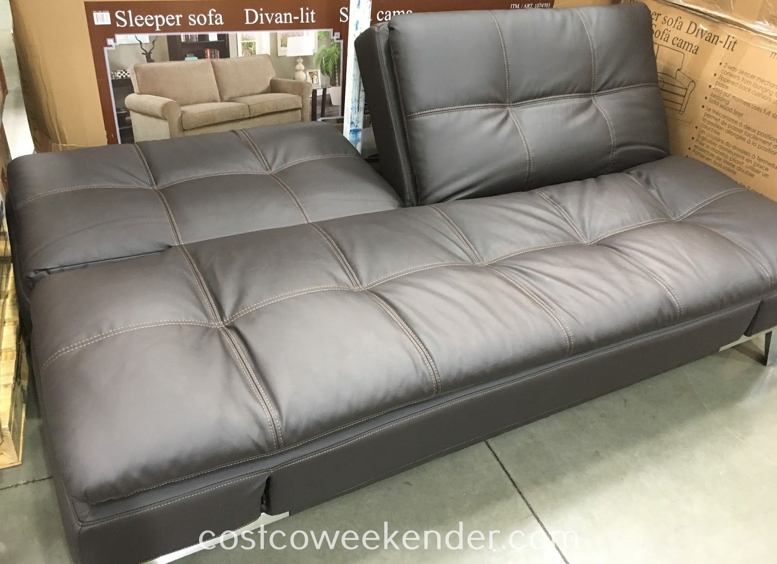 Lifestyle Solutions Euro Lounger Item 1074710 At Costco $400 | For within Travis Dk Grey Leather 6 Piece Power Reclining Sectionals With Power Headrest & Usb (Image 12 of 30)