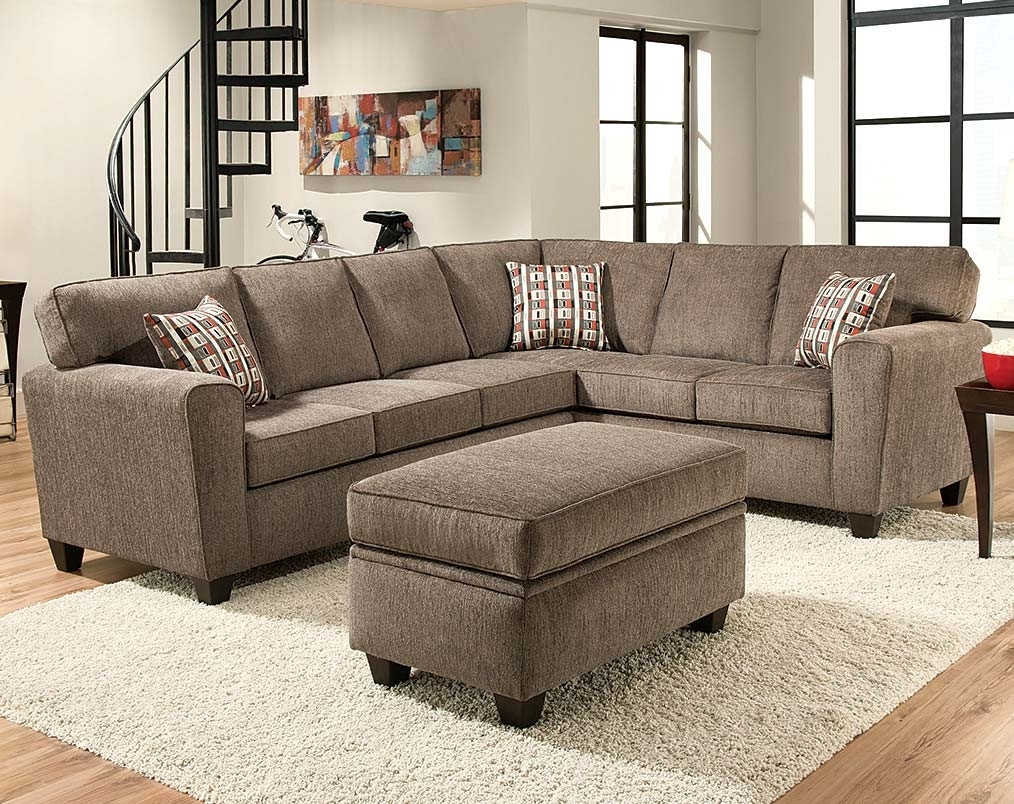 Light Gray Pewter Two Piece Sectional Couch | American Freight inside Norfolk Grey 6 Piece Sectionals With Raf Chaise (Image 15 of 30)