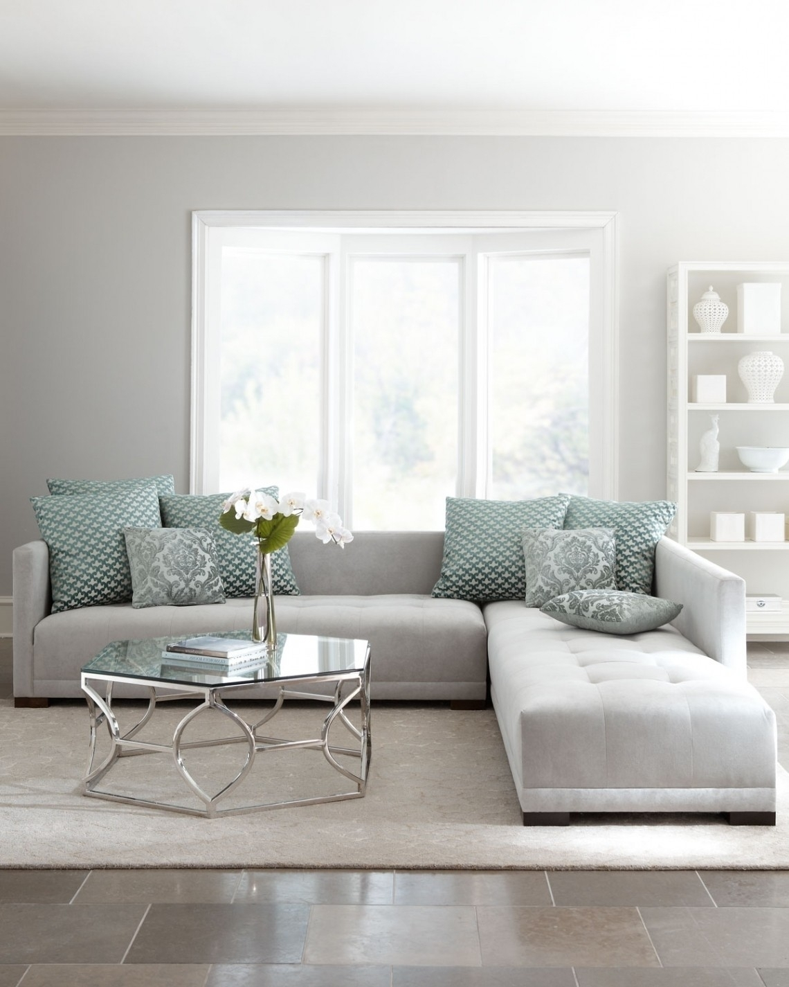 Light Grey Sectional - Implantologiabogota.co in Aquarius Light Grey 2 Piece Sectionals With Raf Chaise (Image 18 of 30)