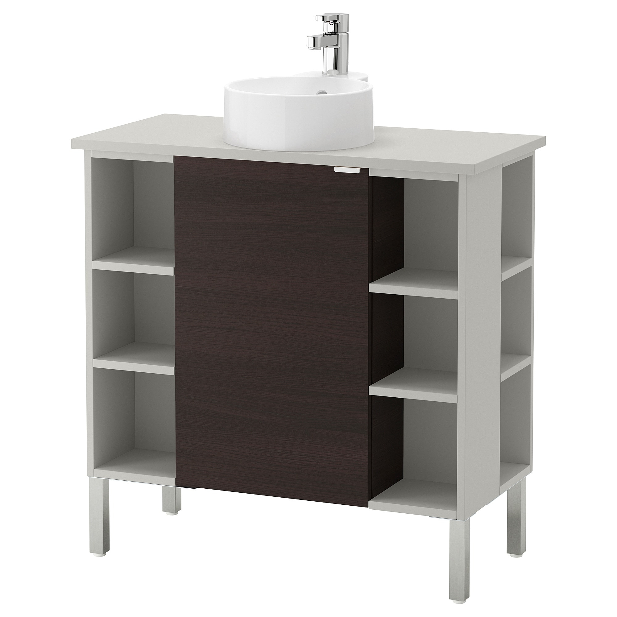 Lillången/viskan / Gutviken Washbasin Cab 1 Door/4 End Unit intended for White Wash 4-Door Galvanized Sideboards (Image 18 of 30)