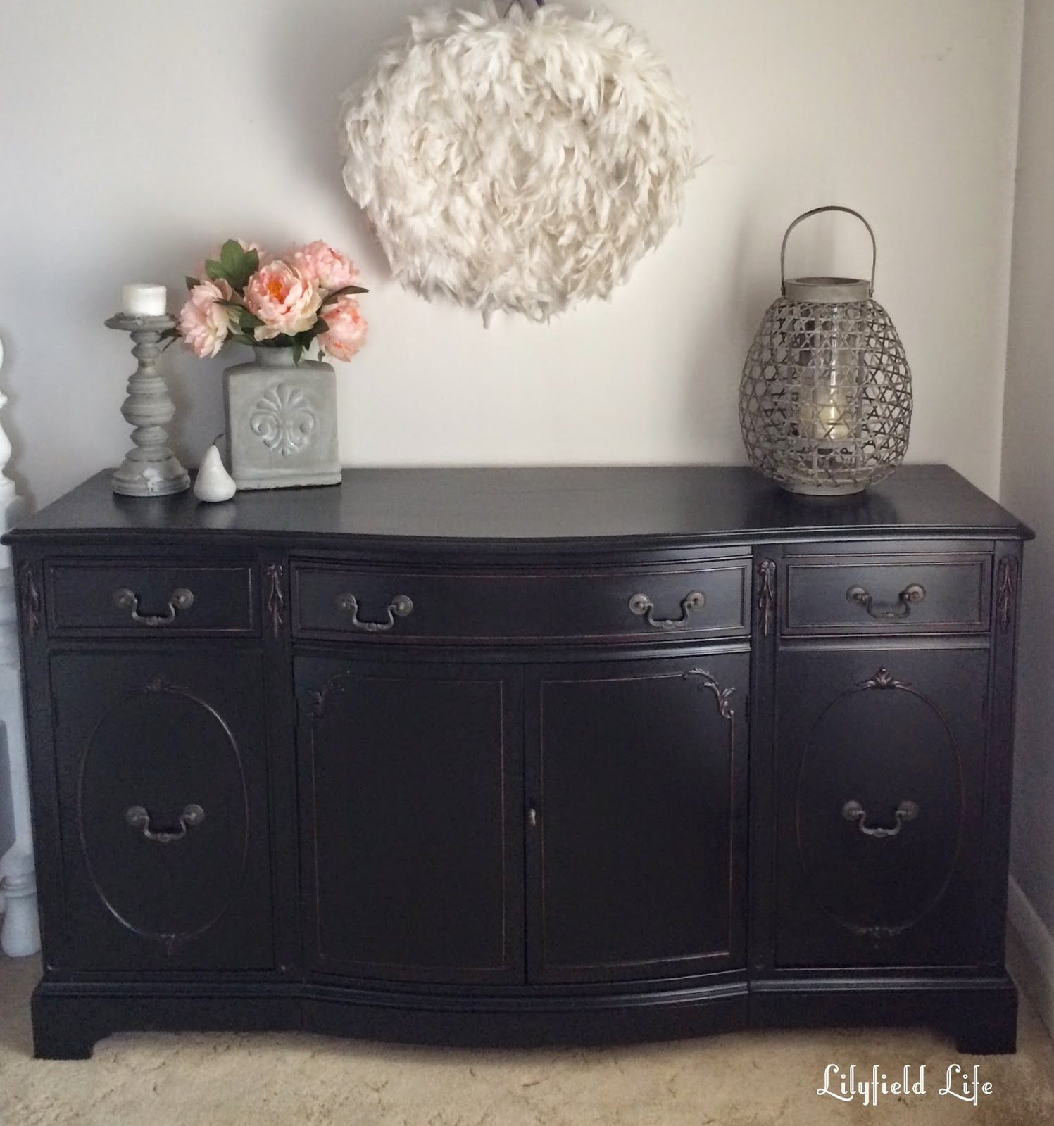 Featured Photo of Satin Black & Painted White Sideboards