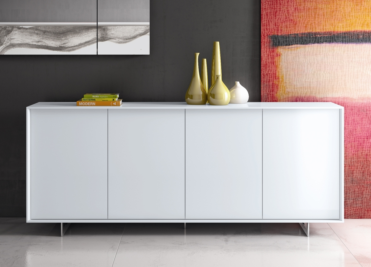Lima Contemporary Sideboard | Modern Furniture | Modern Sideboards for Walnut Finish Contempo Sideboards (Image 22 of 30)