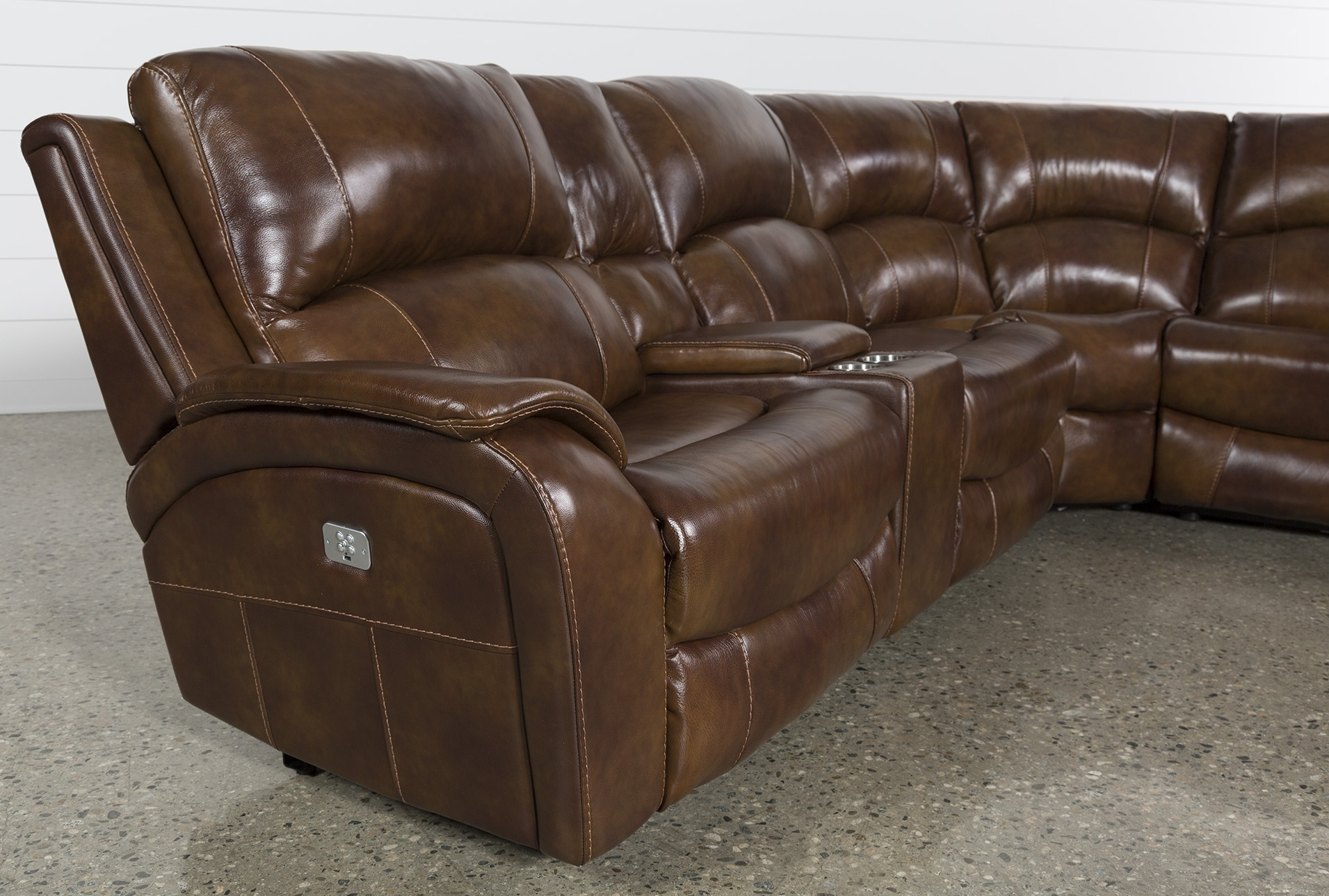 Lincoln Aged Leather Chesterfield - 2 Seater in Travis Cognac Leather 6 Piece Power Reclining Sectionals With Power Headrest & Usb (Image 17 of 30)