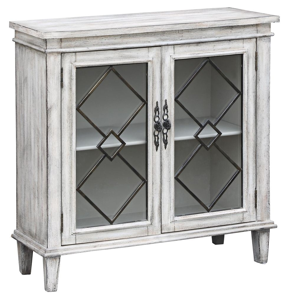 Lindsey White Wash Wood Breakfront Textured 2-Door Sideboard - Style with White Wash 2-Door Sideboards (Image 12 of 30)