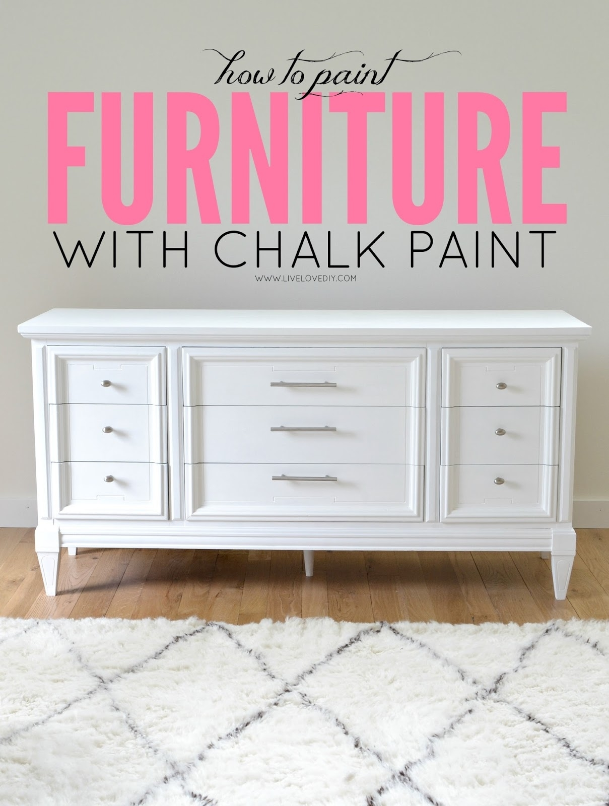Livelovediy: How To Paint Furniture With Chalk Paint (And How To with regard to Satin Black & Painted White Sideboards (Image 15 of 30)