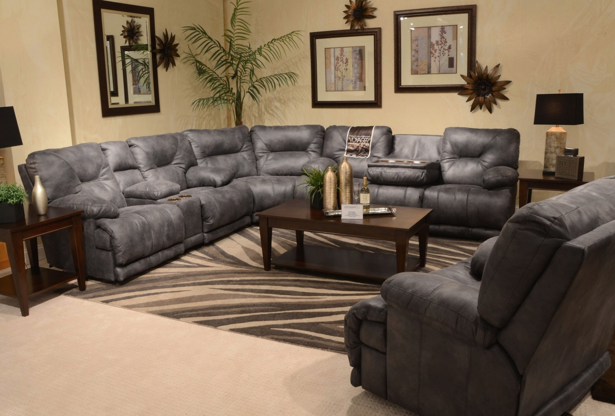 Living Room: 643845|Catnapper Voyager | Intended For Reclining Grey for Calder Grey 6 Piece Manual Reclining Sectionals (Image 20 of 30)