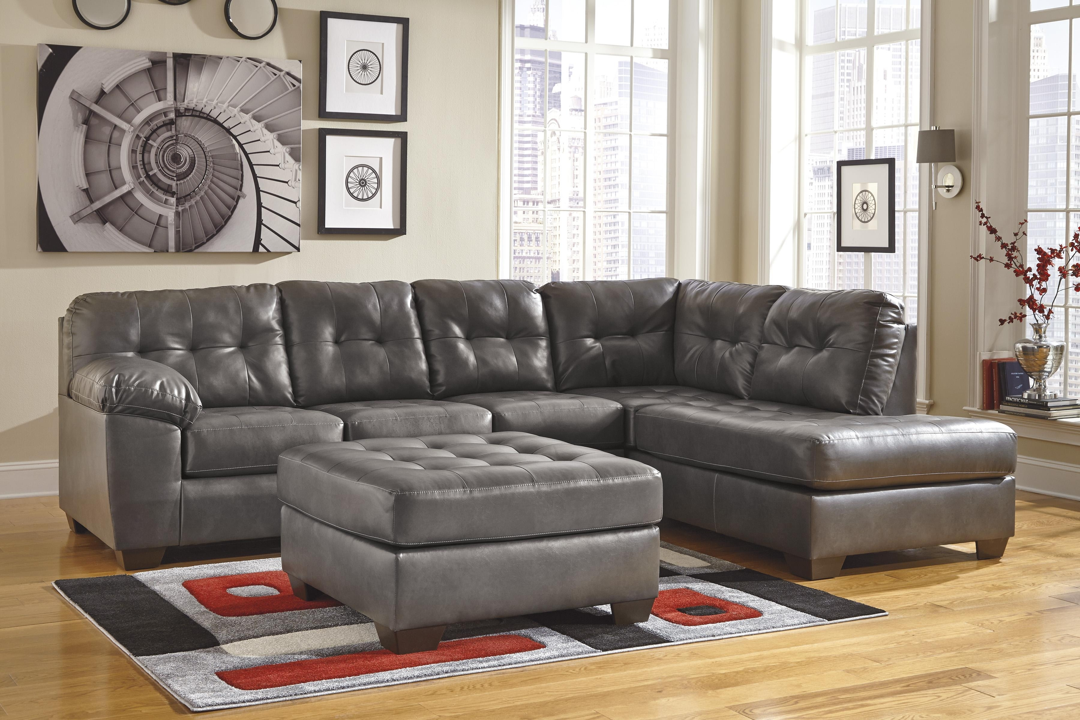 Living Room: Elegant Ashley Leather Sectional Sofa For Comfortable for Lucy Grey 2 Piece Sleeper Sectionals With Laf Chaise (Image 14 of 30)