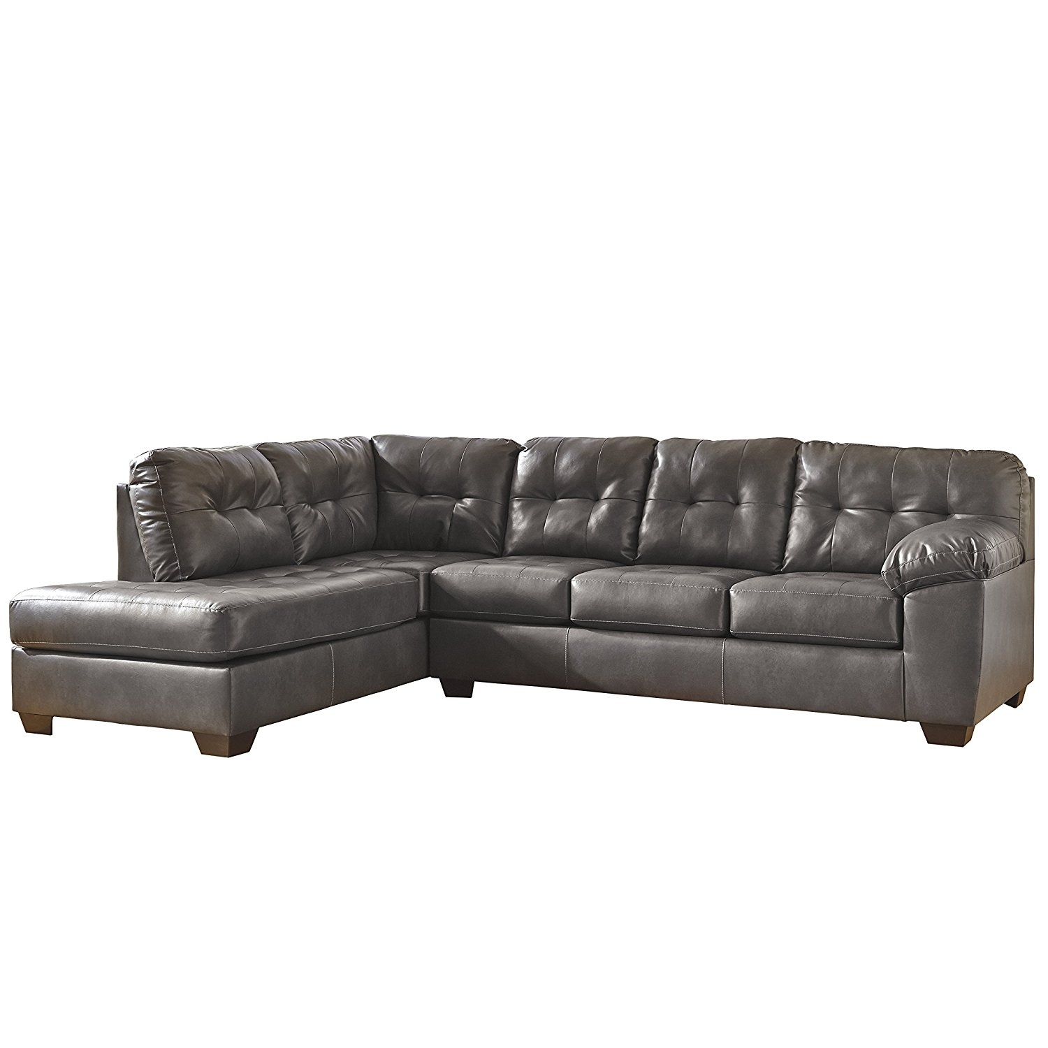 Living Room: Elegant Ashley Leather Sectional Sofa For Comfortable regarding Lucy Grey 2 Piece Sectionals With Laf Chaise (Image 15 of 30)