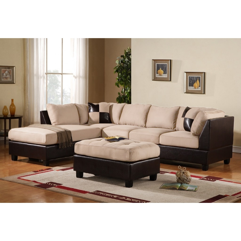 Living Room: Elegant Microsuede Sectional For Comfortable Living intended for Delano Smoke 3 Piece Sectionals (Image 18 of 30)