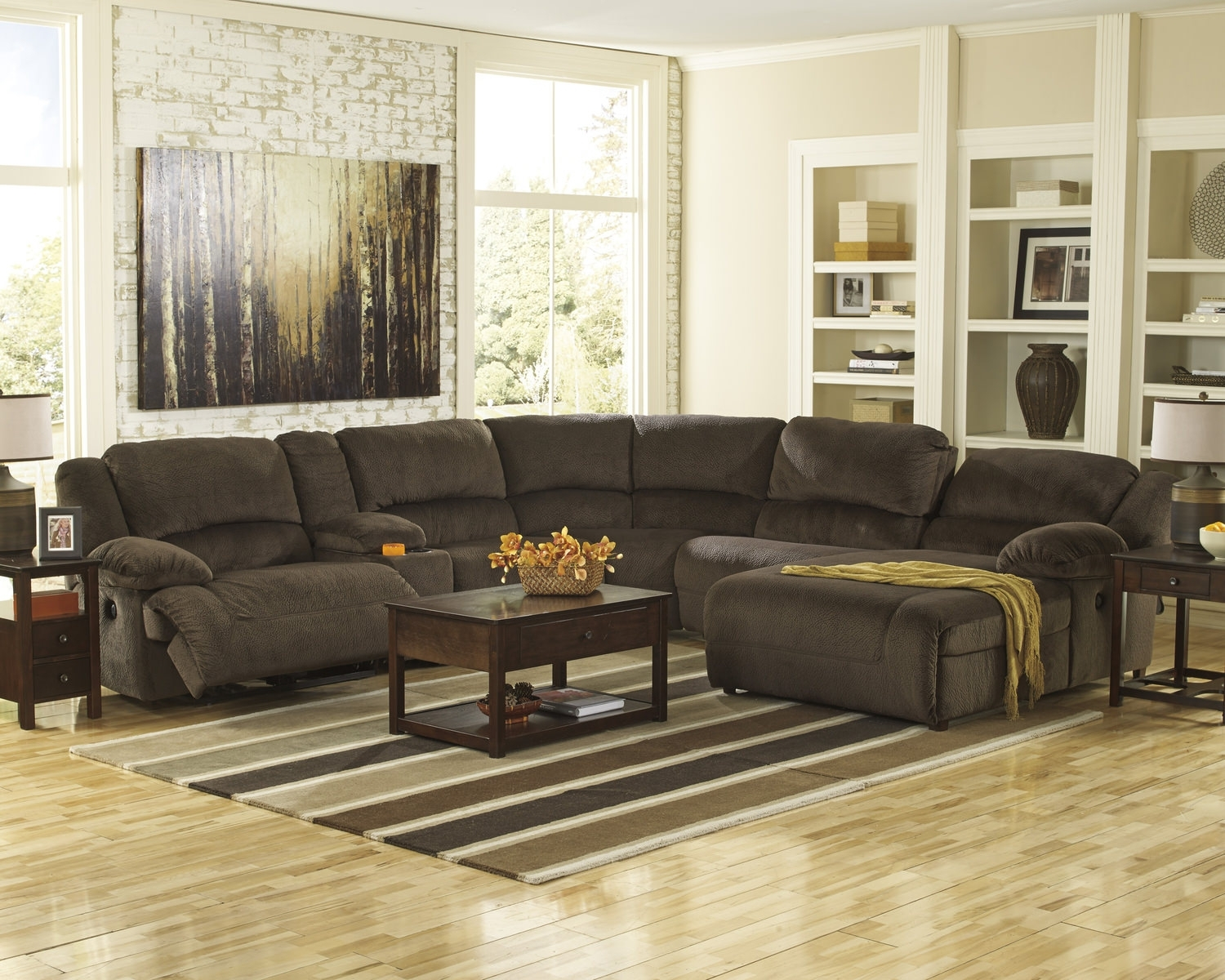 Living Room Sectionals – Leather & Fabric – Dock 86 for Avery 2 Piece Sectionals With Laf Armless Chaise (Image 17 of 30)