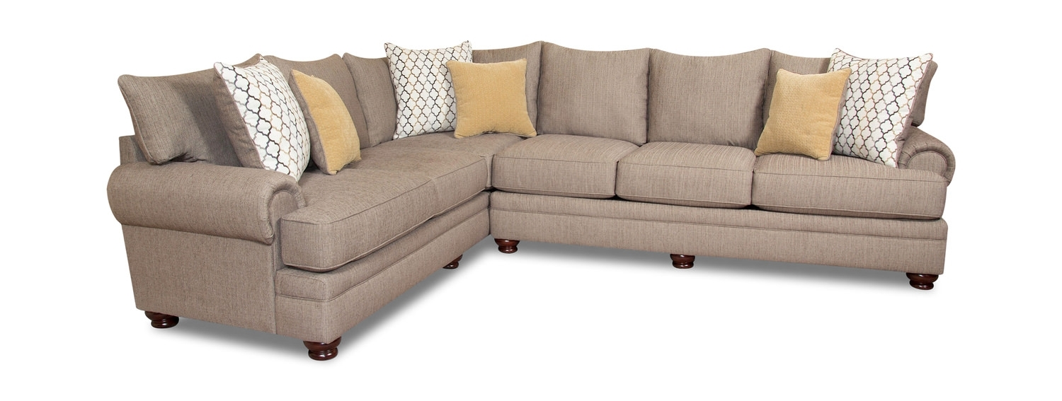 Living Room Sectionals – Leather & Fabric – Dock 86 in Avery 2 Piece Sectionals With Laf Armless Chaise (Image 18 of 30)