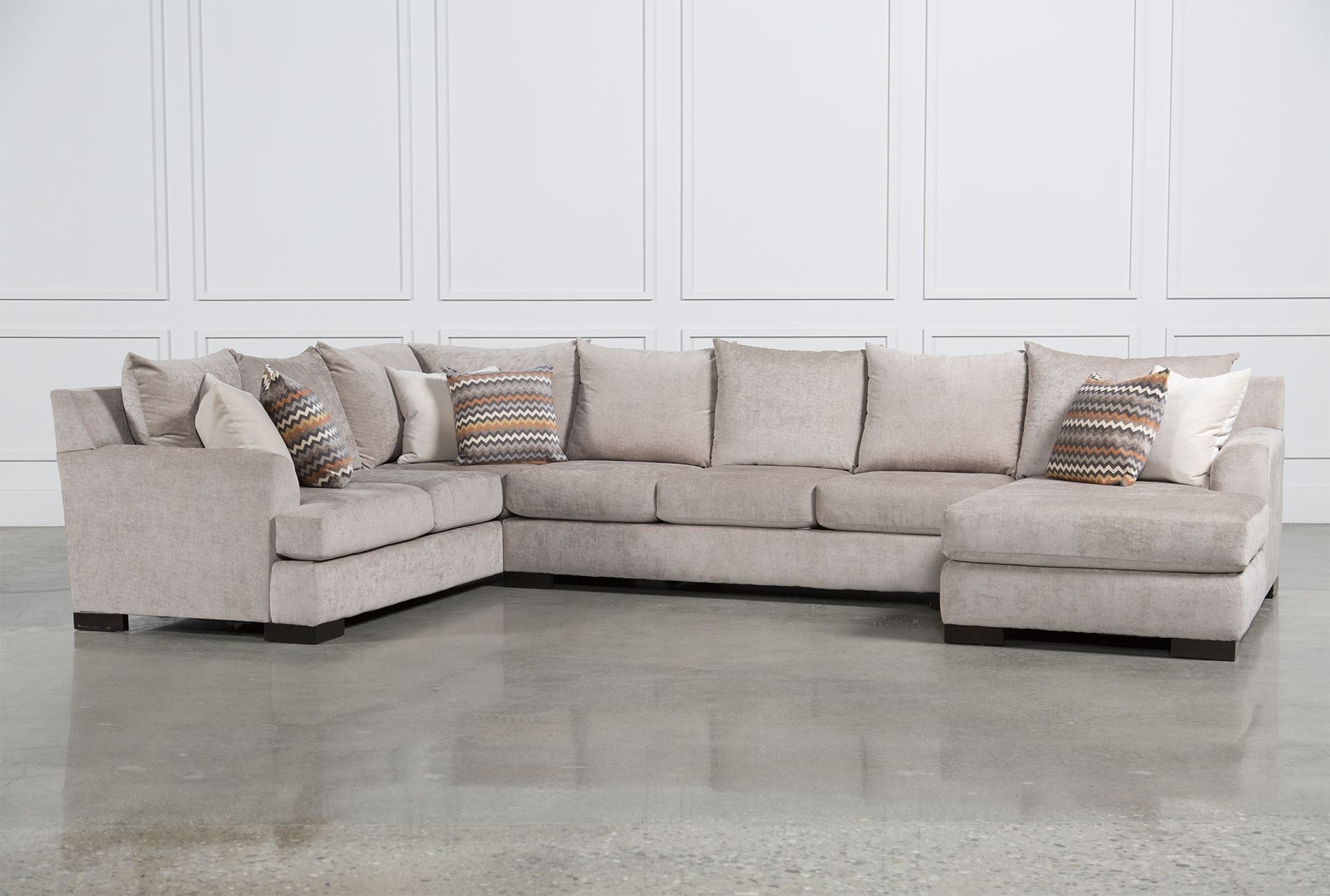 Living Space Sectional Sofa - Sofa Design Ideas regarding Aquarius Light Grey 2 Piece Sectionals With Laf Chaise (Image 17 of 30)
