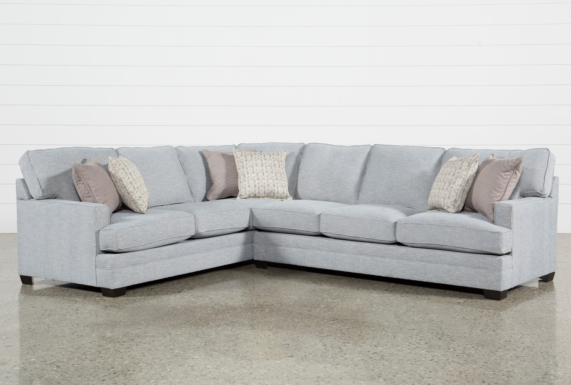 Living Spaces Sectional Cosmos Grey 2 Piece W Raf Chaise 206402 0 throughout Cosmos Grey 2 Piece Sectionals With Raf Chaise (Image 21 of 30)