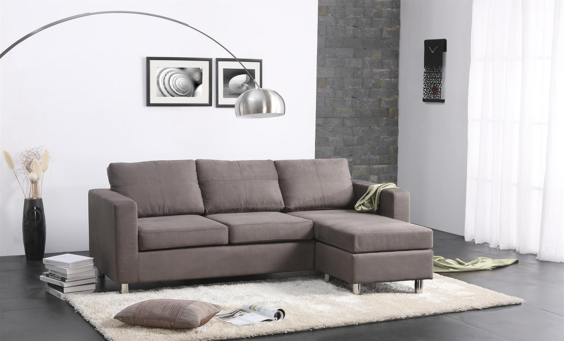 Living Spaces Sectional Couches - Tidex regarding Aquarius Light Grey 2 Piece Sectionals With Laf Chaise (Image 17 of 30)