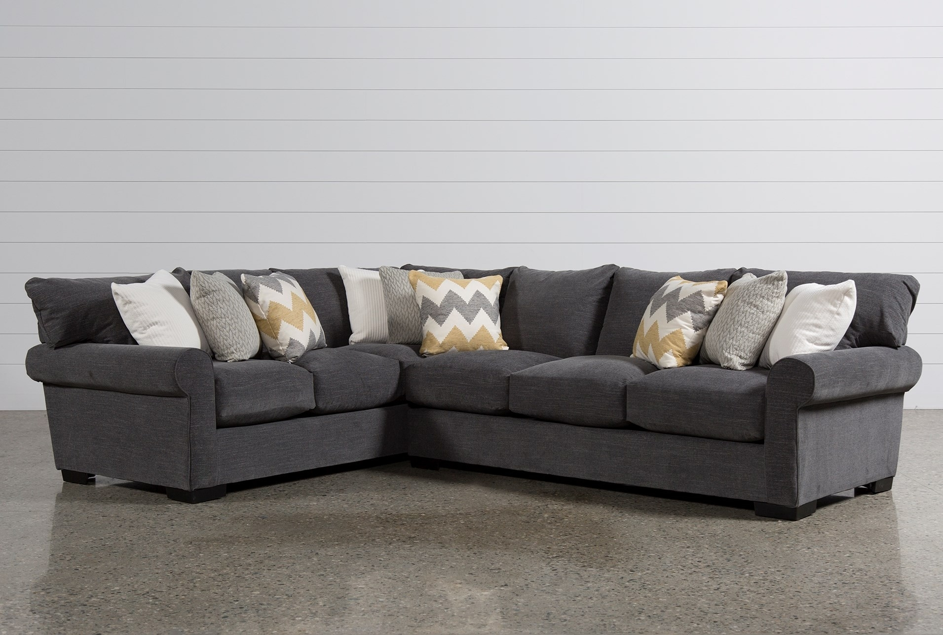 Living Spaces Sectional - Implantologiabogota.co in Cosmos Grey 2 Piece Sectionals With Raf Chaise (Image 17 of 30)