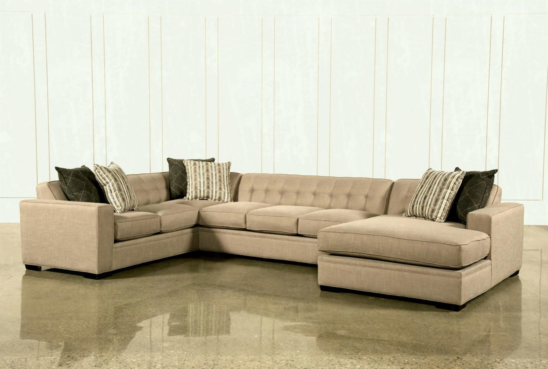 Living Spaces Sectional - Tidex in Aspen 2 Piece Sleeper Sectionals With Raf Chaise (Image 17 of 30)