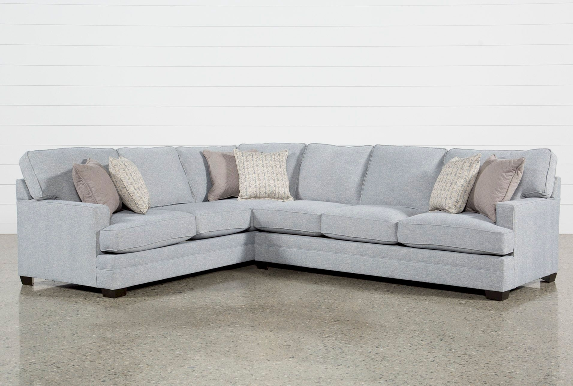 Living Spaces - Spring 2018 - Josephine 2 Piece Sectional W/raf Sofa in Adeline 3 Piece Sectionals (Image 23 of 30)