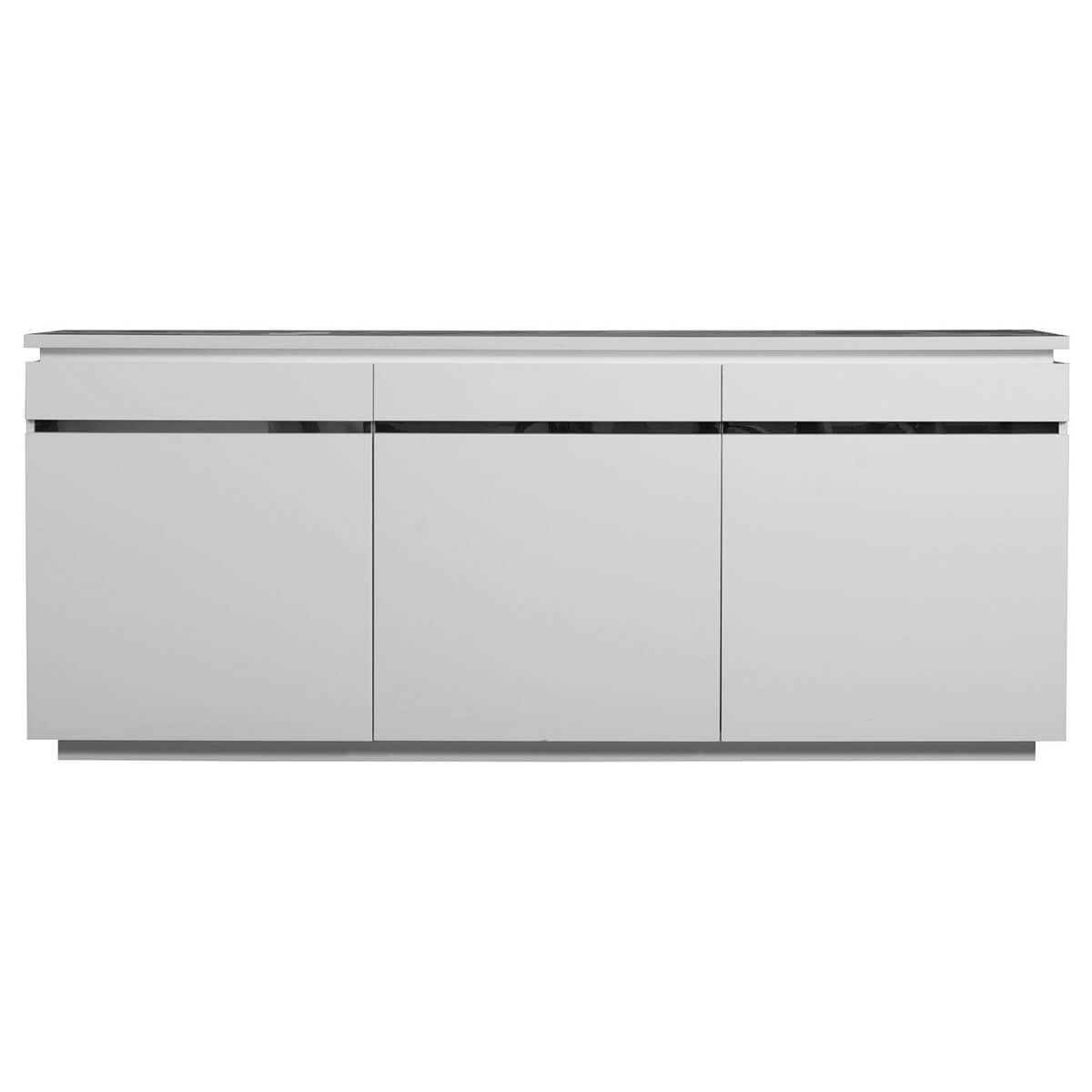 Logan Sideboard White High Gloss 3 Door With Lights | Sideboards | Fads intended for Logan Sideboards (Image 13 of 30)