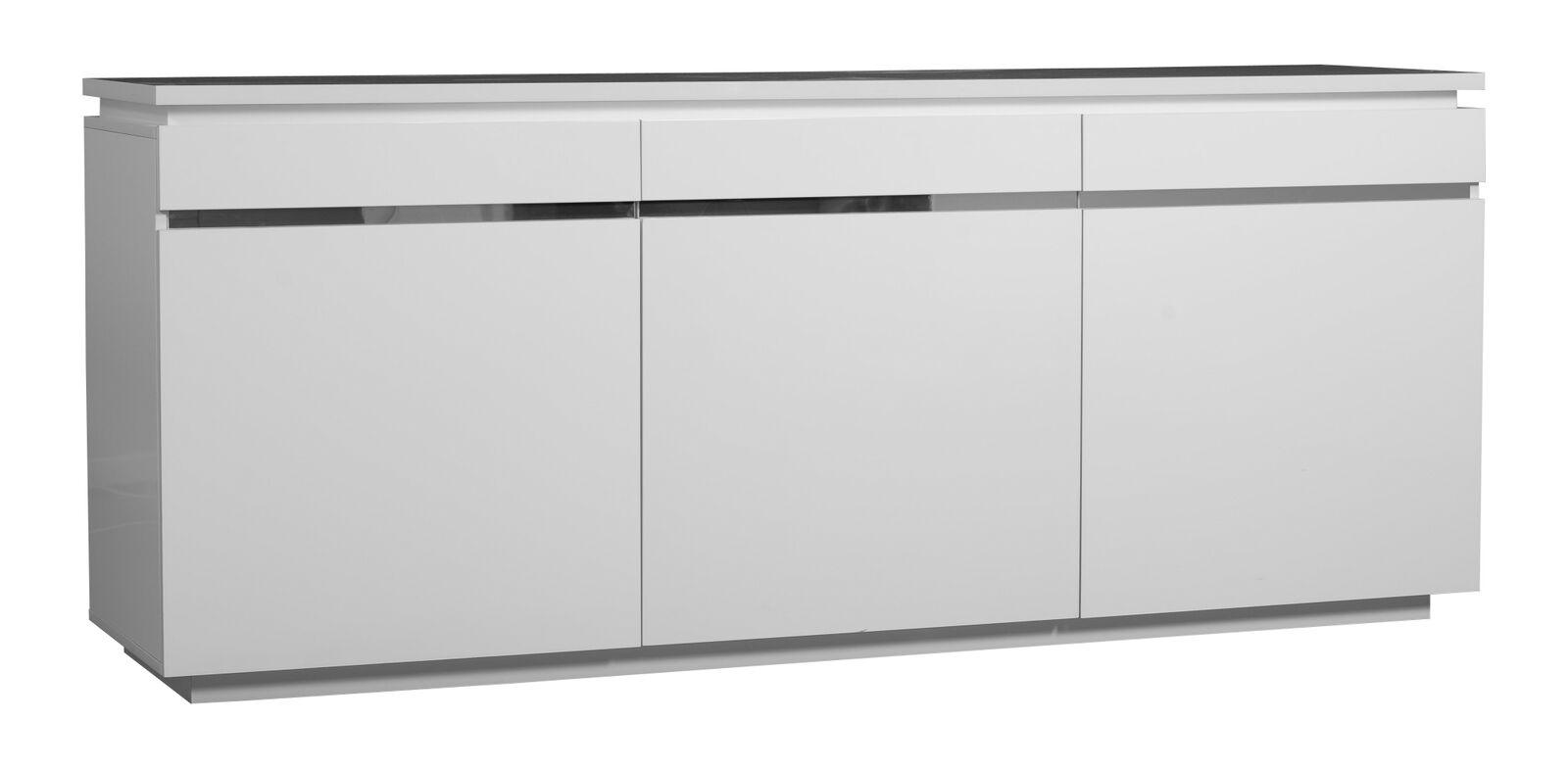 Logan Sideboard White High Gloss 3 Door With Lights | Sideboards | Fads with regard to Logan Sideboards (Image 14 of 30)