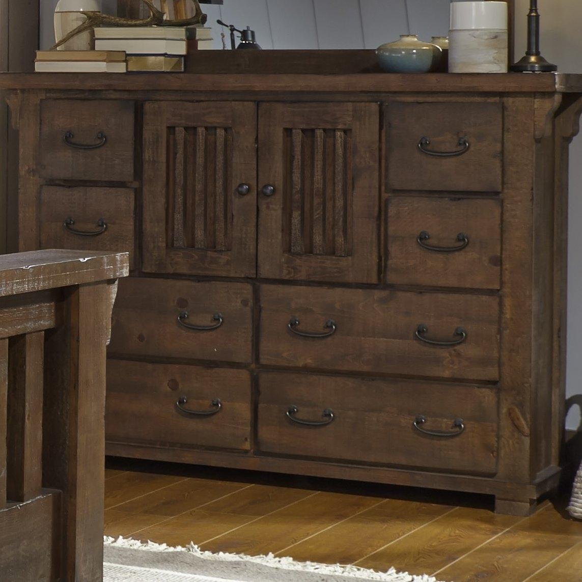 Loon Peak Buckleys 8 Drawer Combo Dresser & Reviews | Wayfair with Bale Rustic Grey Sideboards (Image 19 of 30)
