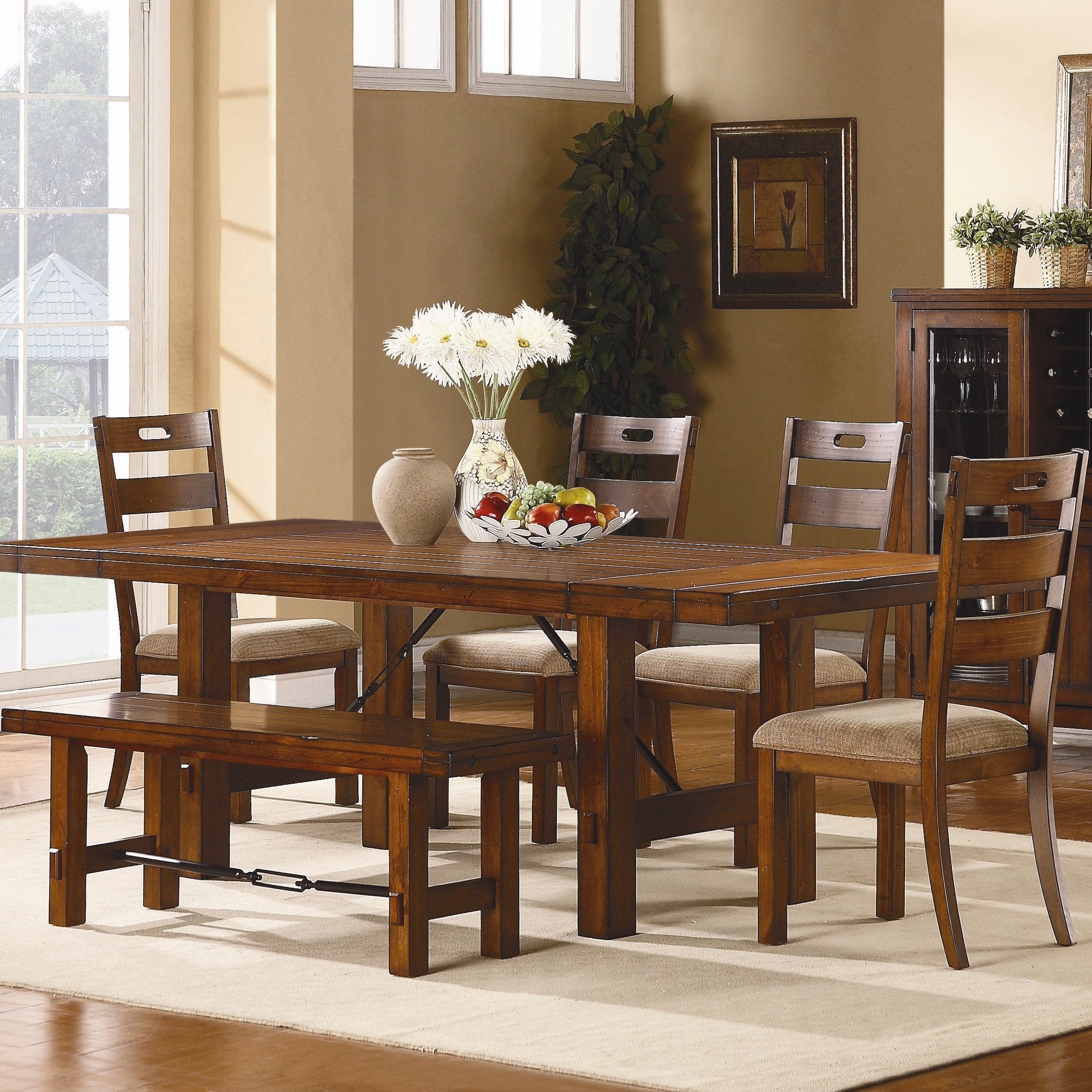 Loon Peak South Bross 6 Piece Dining Set & Reviews | Wayfair inside Marbled Axton Sideboards (Image 13 of 26)