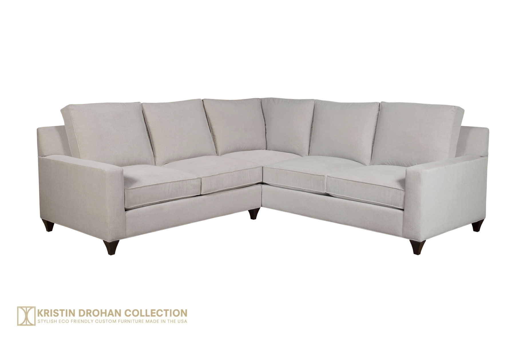Loree Sectional - The Kristin Drohan Collection pertaining to Kristen Silver Grey 6 Piece Power Reclining Sectionals (Image 16 of 30)