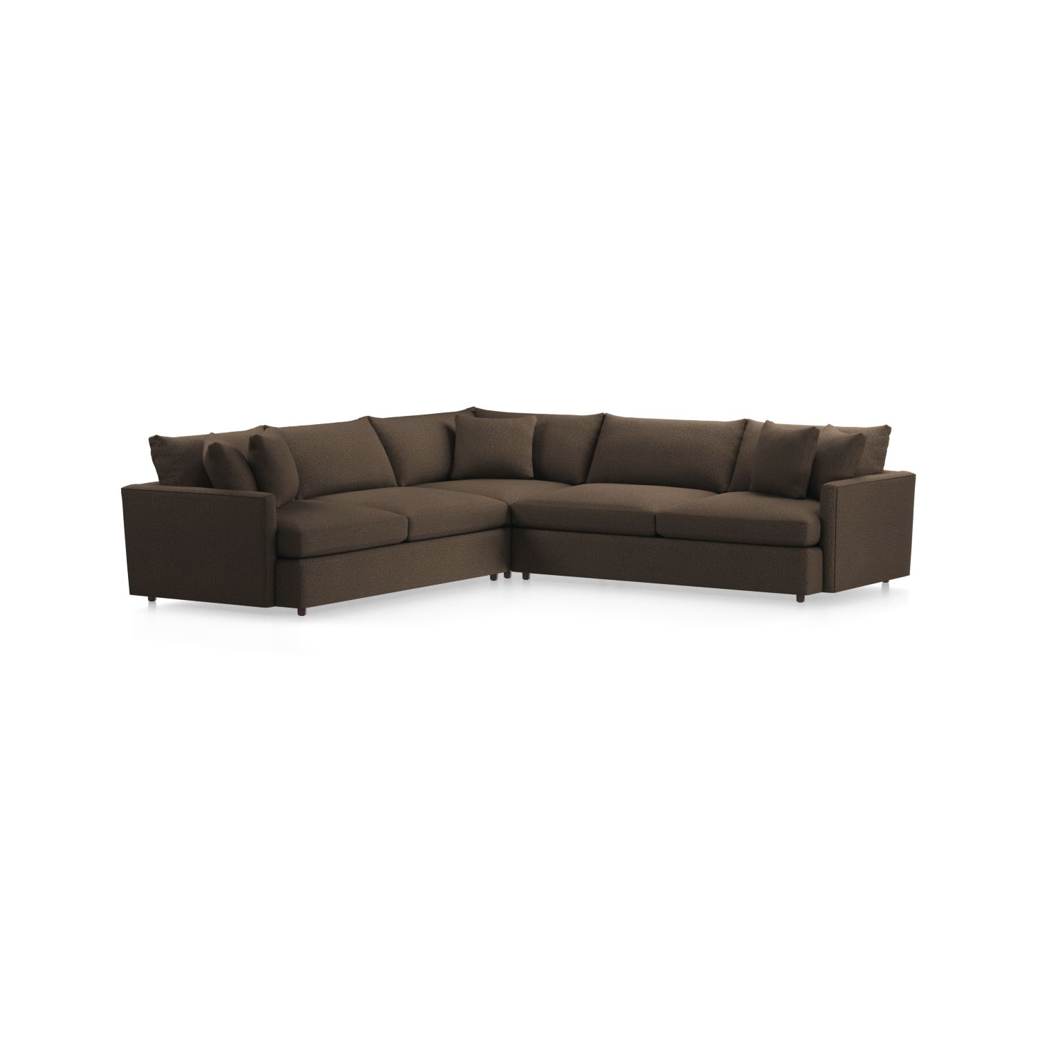 Lounge Ii 3-Piece Sectional Sofa + Reviews | Crate And Barrel for Glamour Ii 3 Piece Sectionals (Image 18 of 30)