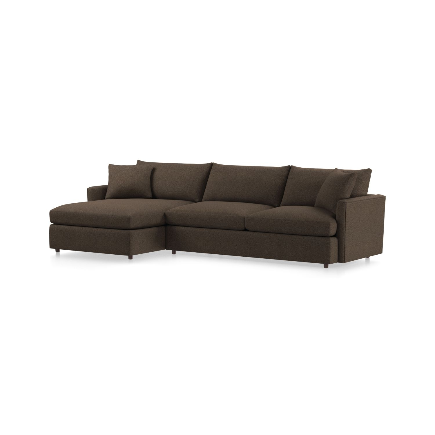 Lounge Ii Petite Sectional Sofa + Reviews | Crate And Barrel intended for Elm Grande Ii 2 Piece Sectionals (Image 19 of 30)