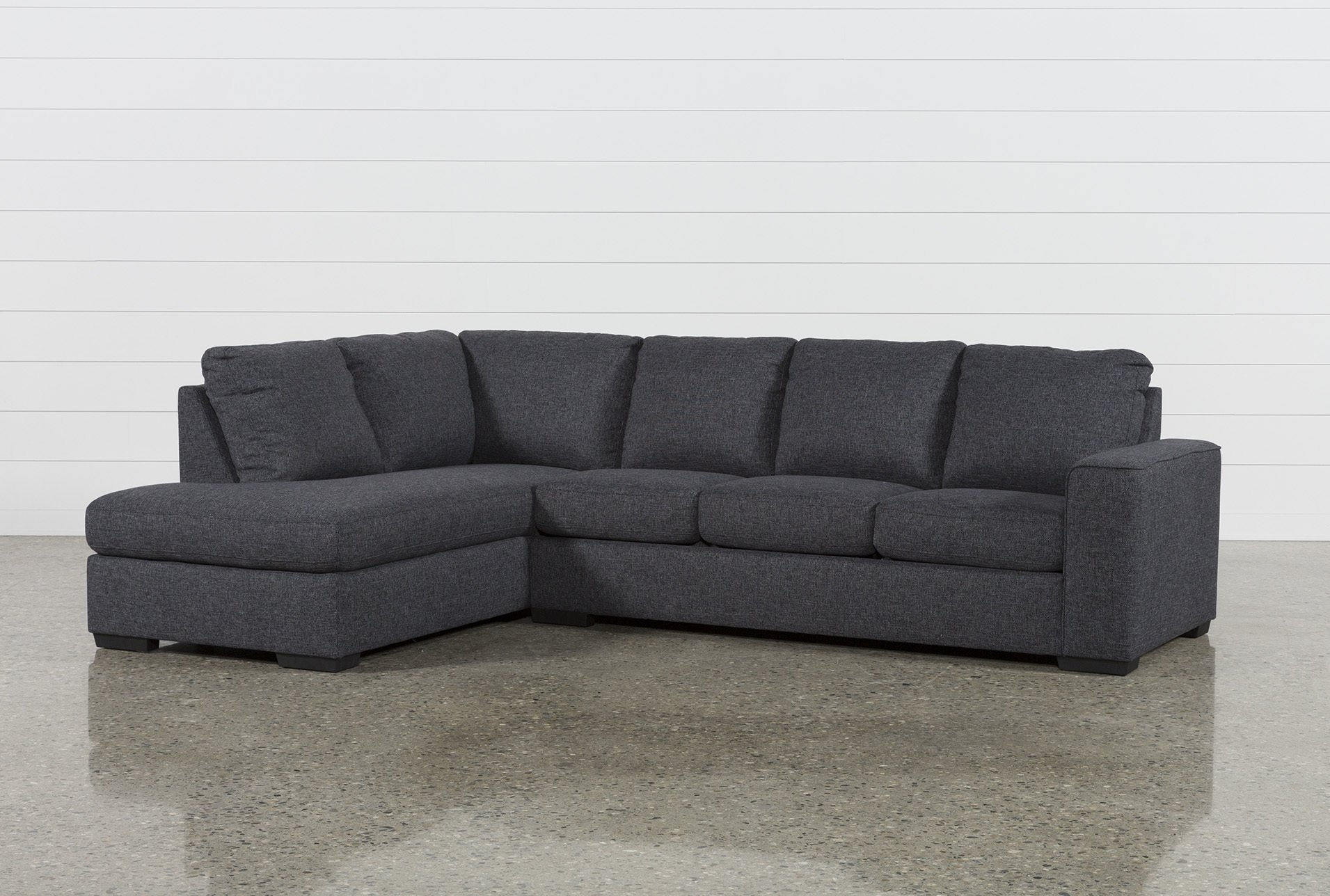 Lucy Dark Grey 2 Piece Sectional W/laf Chaise | Dark Grey And Products In Malbry Point 3 Piece Sectionals With Laf Chaise (View 4 of 30)