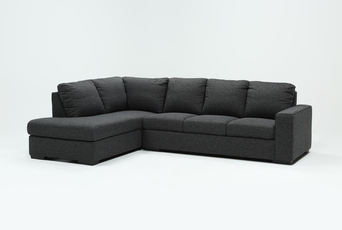 Lucy Dark Grey 2 Piece Sleeper Sectional W/laf Chaise | Living Spaces in Lucy Dark Grey 2 Piece Sleeper Sectionals With Laf Chaise (Image 14 of 30)