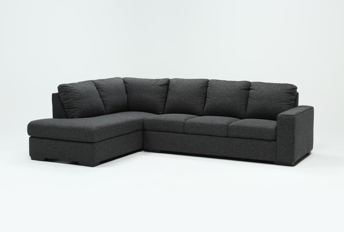Lucy Dark Grey 2 Piece Sleeper Sectional W/laf Chaise | Living Spaces inside Lucy Grey 2 Piece Sectionals With Laf Chaise (Image 19 of 30)