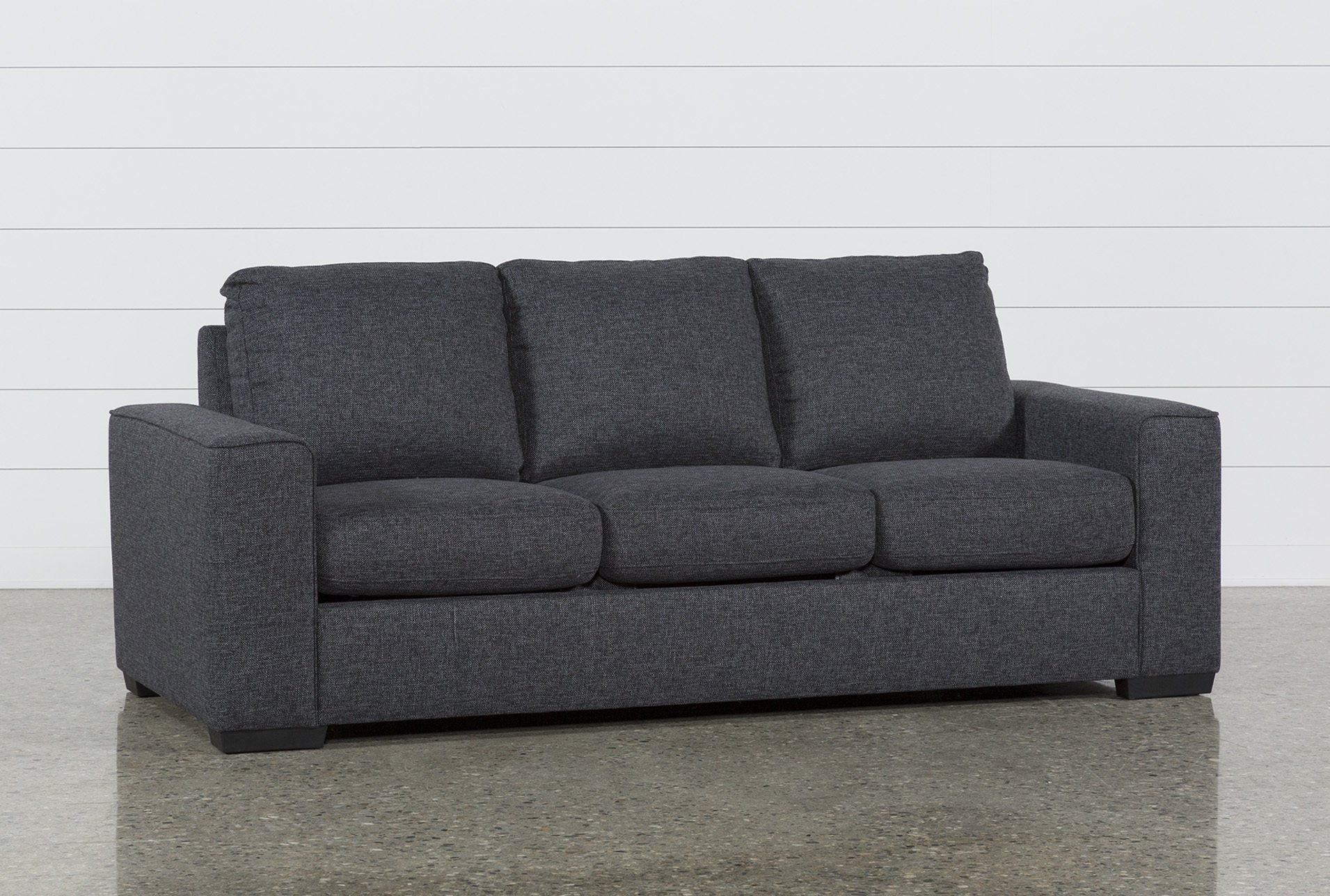 Lucy Dark Grey Queen Sleeper | Dark Grey, Dark And Gray with Turdur 2 Piece Sectionals With Laf Loveseat (Image 15 of 30)