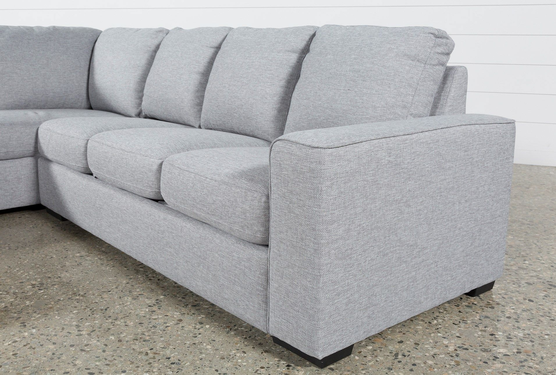 Lucy Grey 2 Piece Sectional W/laf Chaise | Gray And Room throughout Arrowmask 2 Piece Sectionals With Sleeper & Right Facing Chaise (Image 15 of 30)