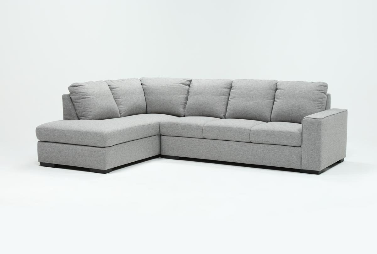 Lucy Grey 2 Piece Sleeper Sectional W/laf Chaise | Living Spaces for Lucy Grey 2 Piece Sleeper Sectionals With Laf Chaise (Image 22 of 30)