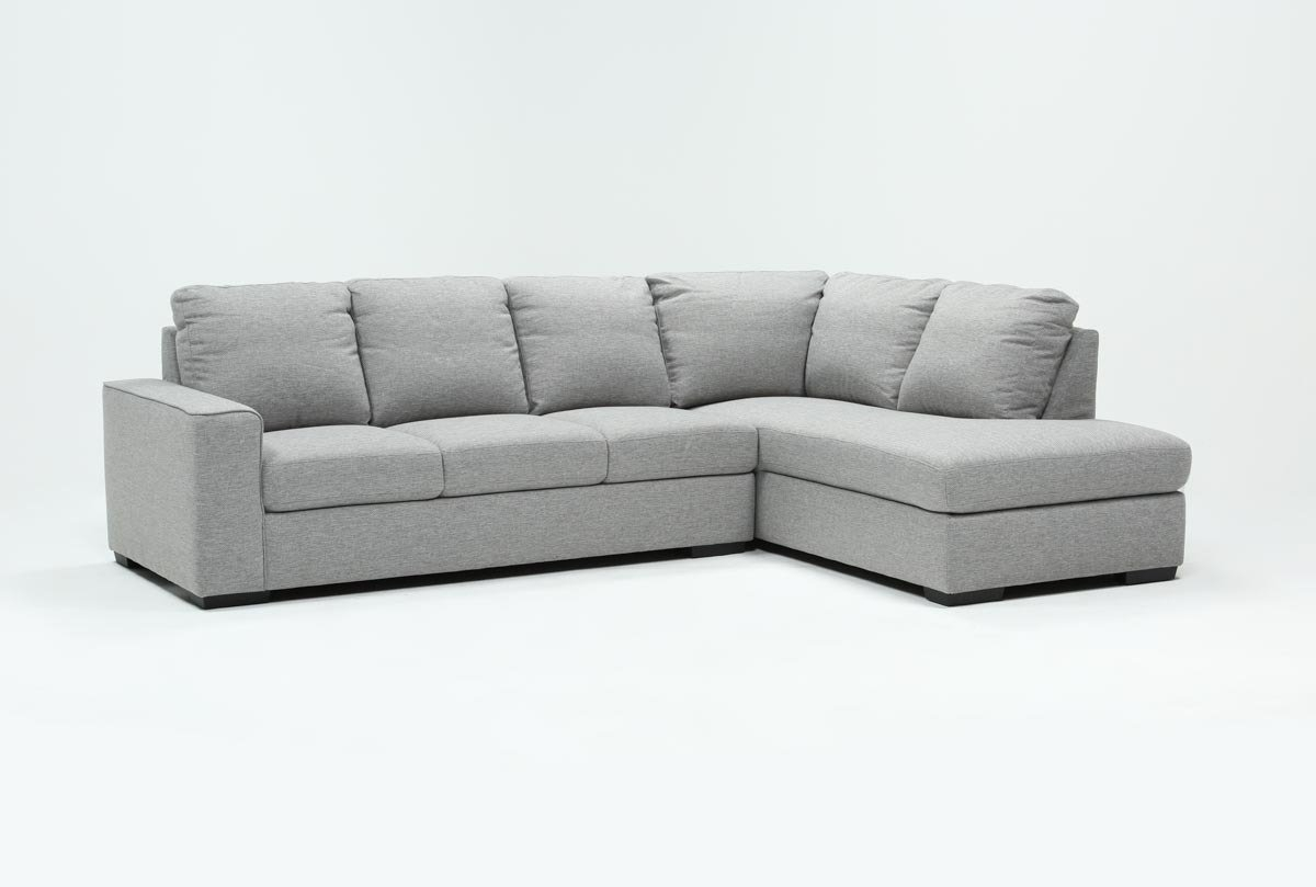 Lucy Grey 2 Piece Sleeper Sectional W/raf Chaise | Living Spaces intended for Lucy Grey 2 Piece Sleeper Sectionals With Raf Chaise (Image 23 of 30)