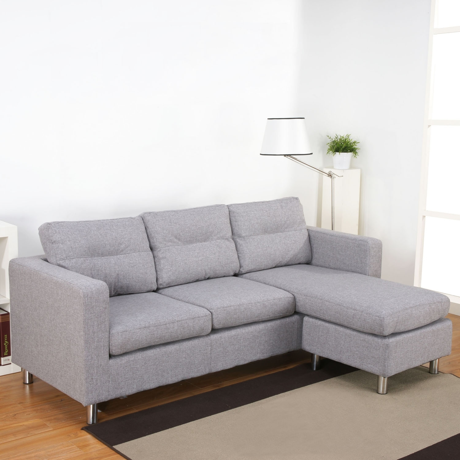 Luxury Light Grey Sectional Sofa - Sofas with Aquarius Dark Grey 2 Piece Sectionals With Raf Chaise (Image 20 of 30)