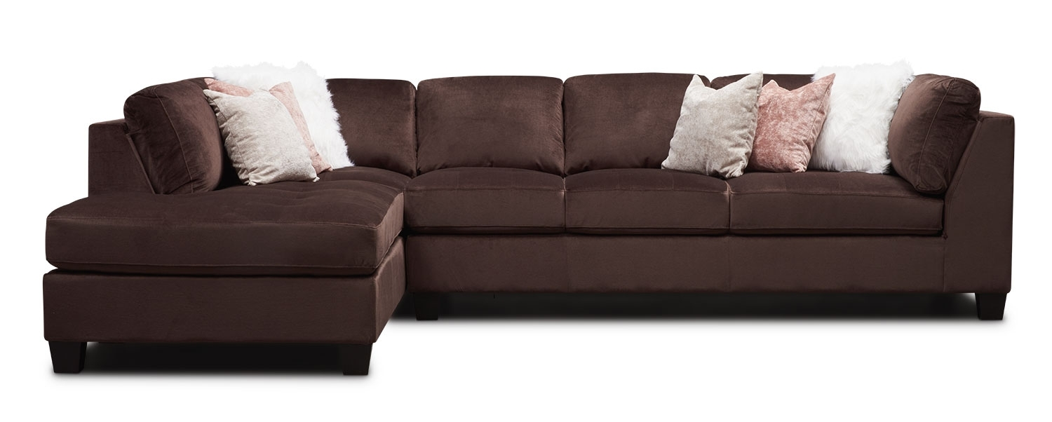 Mackenzie 2-Piece Sectional With Left-Facing Chaise - Brown regarding Glamour Ii 3 Piece Sectionals (Image 19 of 30)
