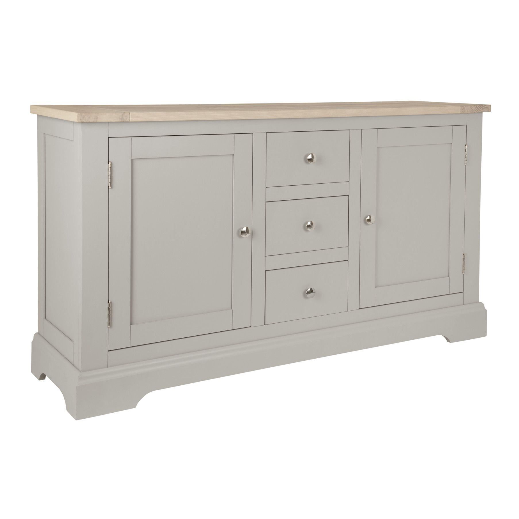 Made To Order Furniture - Dorset Pale French Grey 2 Door 3 Drawer inside Oil Pale Finish 4-Door Sideboards (Image 18 of 30)