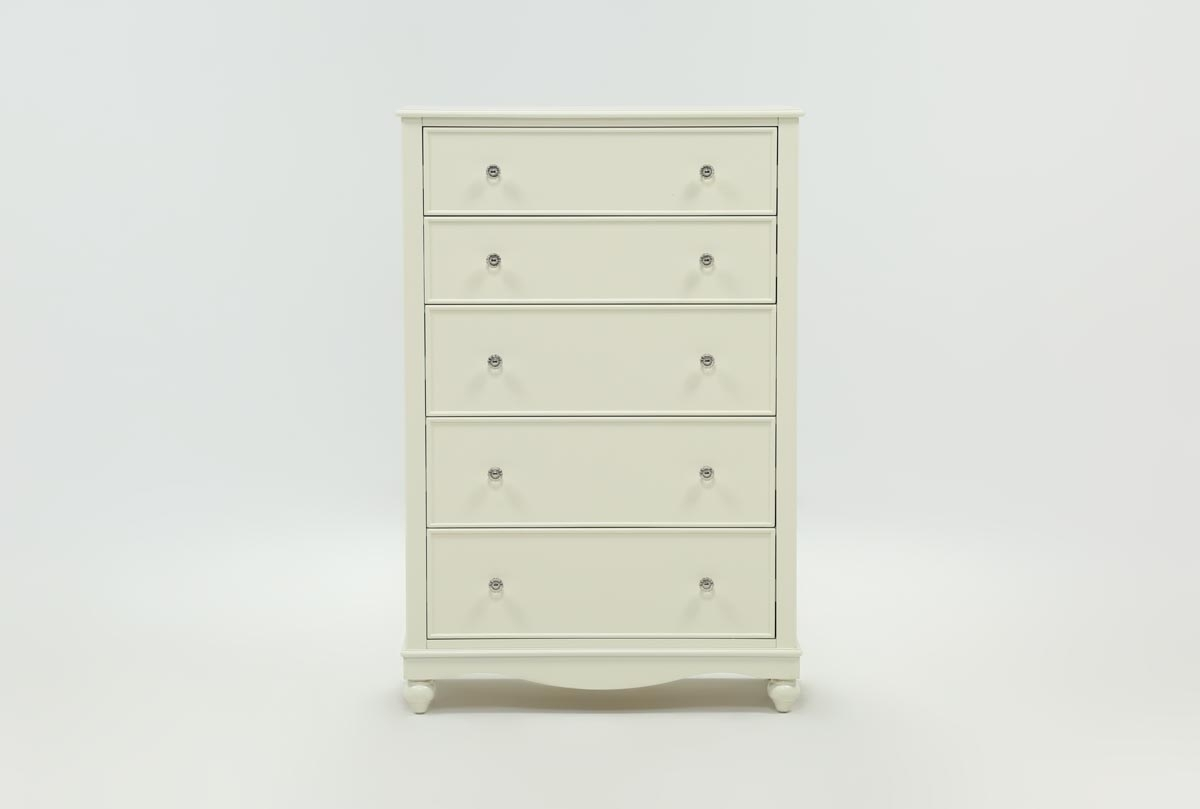Madison White Chest Of Drawers | Living Spaces for Marbled Axton Sideboards (Image 14 of 26)