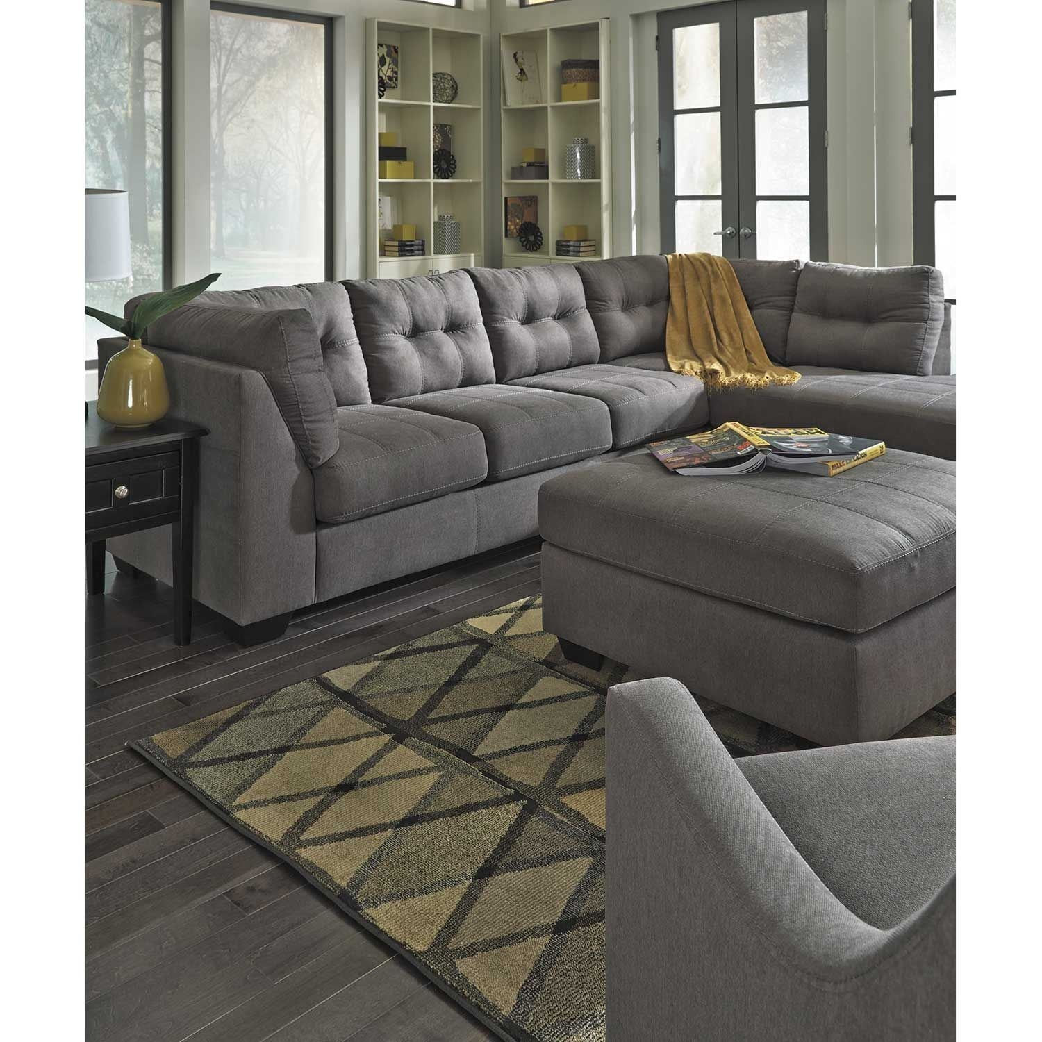 Maier Charcoal 2 Piece Sectional With Laf Chaise | 4520016/67 intended for Arrowmask 2 Piece Sectionals With Laf Chaise (Image 19 of 30)