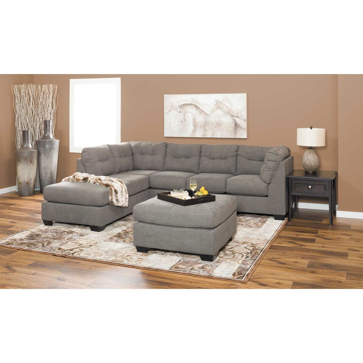 Maier Charcoal 2 Piece Sectional With Laf Chaise | 4520016/67 throughout Arrowmask 2 Piece Sectionals With Sleeper & Left Facing Chaise (Image 17 of 30)